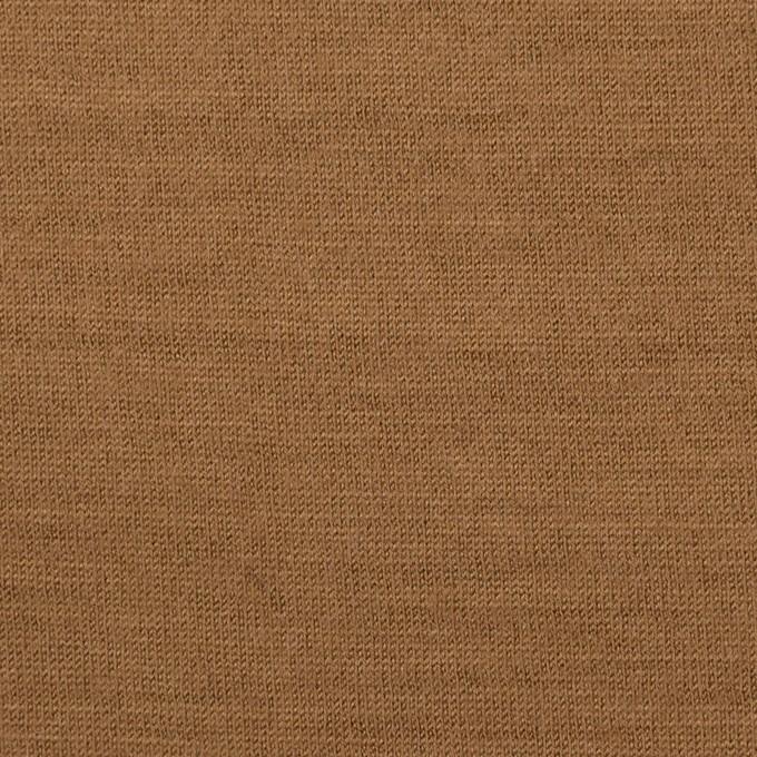 ウール×無地(オークル)×天竺ニット イメージ1