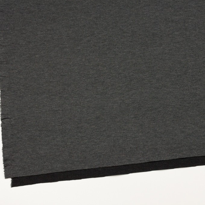 リヨセル&ナイロン混×無地(チャコールグレー&ブラック)×Wニット イメージ2