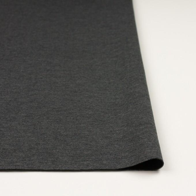リヨセル&ナイロン混×無地(チャコールグレー&ブラック)×Wニット イメージ3