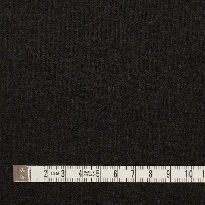 リヨセル&ナイロン混×無地(チャコールグレー&ブラック)×Wニット イメージ5