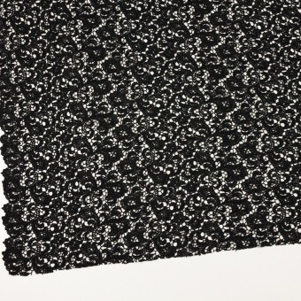 コットン×フラワー(ブラック)×ケミカルレース サムネイル2