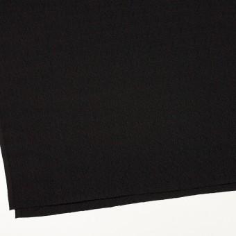 【200cmカット】シルク&レーヨン×無地(ブラック)×ふくれジョーゼット サムネイル2