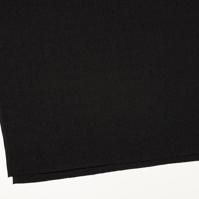 【200cmカット】シルク&レーヨン×無地(ブラック)×ふくれジョーゼット イメージ2
