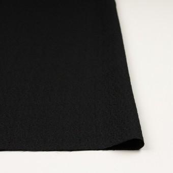 【200cmカット】シルク&レーヨン×無地(ブラック)×ふくれジョーゼット サムネイル3