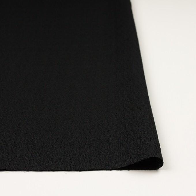 【200cmカット】シルク&レーヨン×無地(ブラック)×ふくれジョーゼット イメージ3