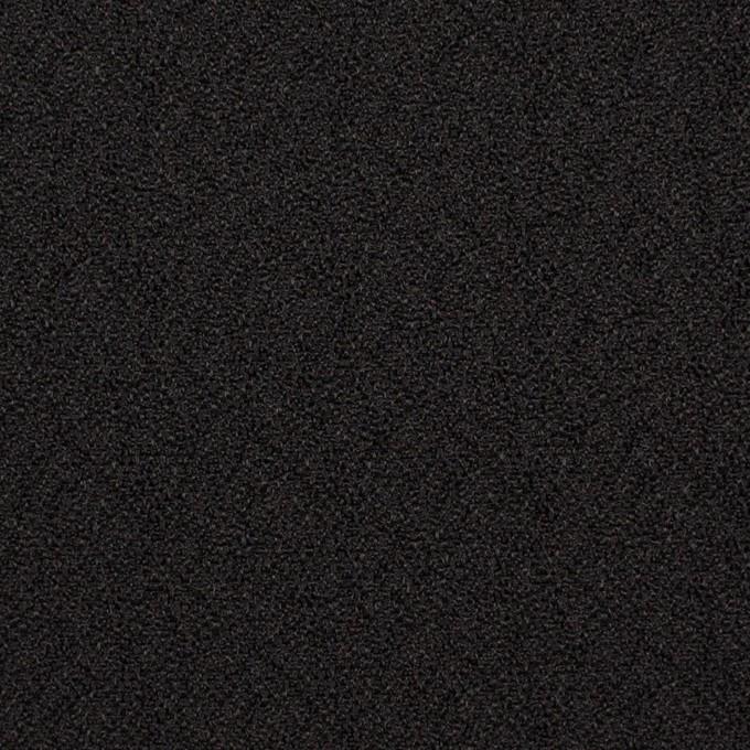 【200cmカット】シルク&レーヨン×無地(ブラック)×ふくれジョーゼット イメージ1