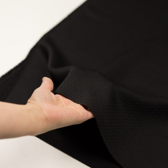 シルク&レーヨン×無地(ブラック)×かわり織 サムネイル5