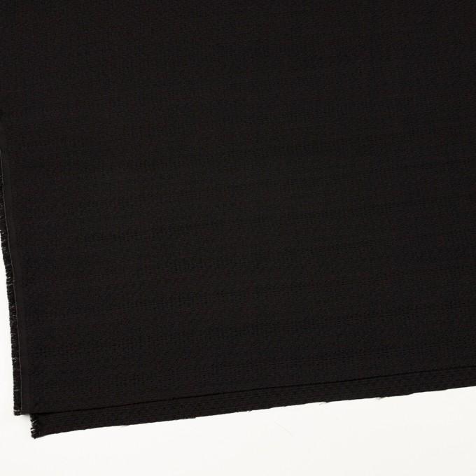 シルク&レーヨン×無地(ブラック)×かわり織 イメージ2