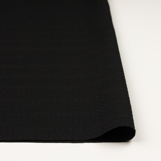 シルク&レーヨン×無地(ブラック)×かわり織 イメージ3