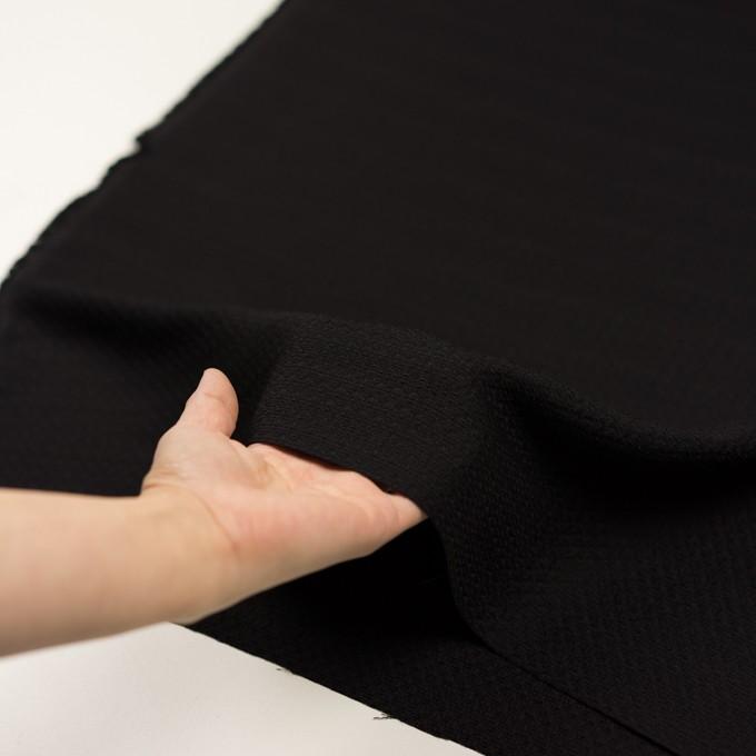 シルク&レーヨン×無地(ブラック)×かわり織 イメージ5
