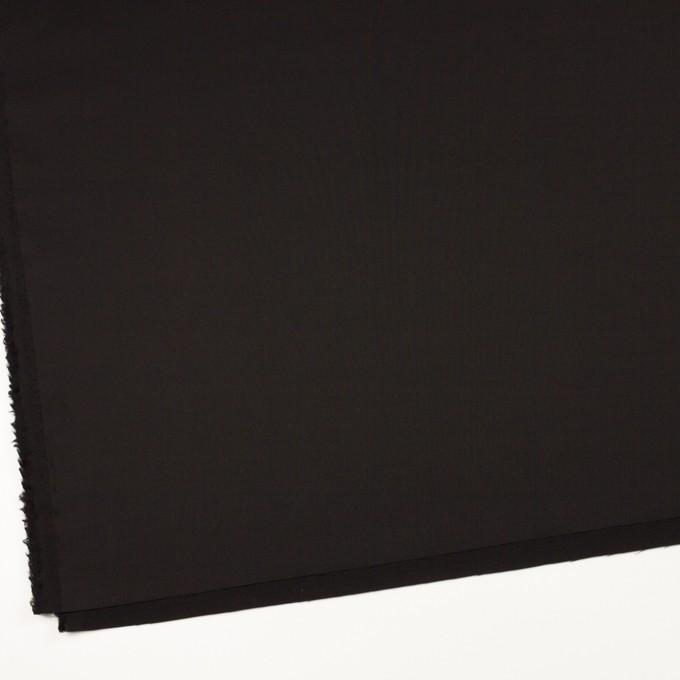 ウール&シルク混×無地(ブラック)×オーガンジー_イタリア製 イメージ2