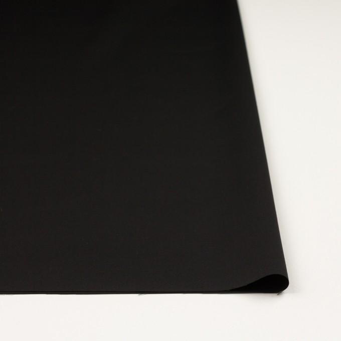 ウール&シルク混×無地(ブラック)×オーガンジー_イタリア製 イメージ3