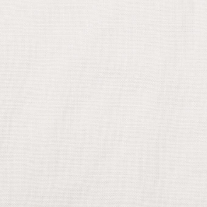 リネン×無地(ホワイト)×薄キャンバス_全25色 イメージ1