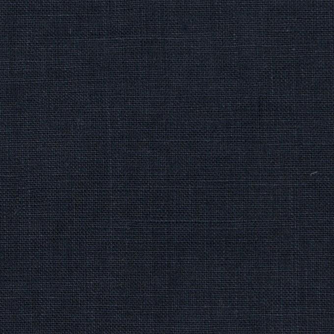 リネン×無地(ダークネイビー2)×薄キャンバス_全25色 イメージ1