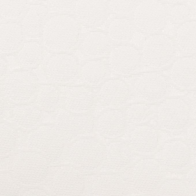 コットン×サークル(オフホワイト)×サテンジャガード イメージ1