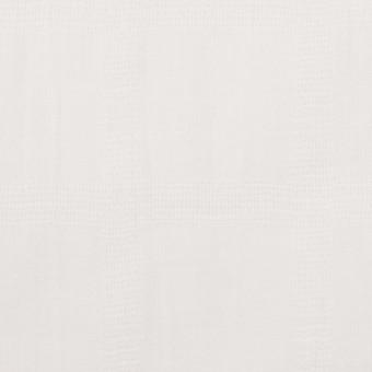 コットン×チェック(オフホワイト)×ボイル&からみ織