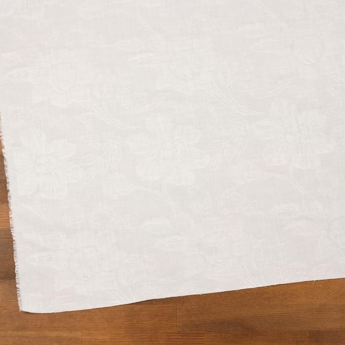 コットン×フラワー(オフホワイト)×ローンジャガード イメージ2