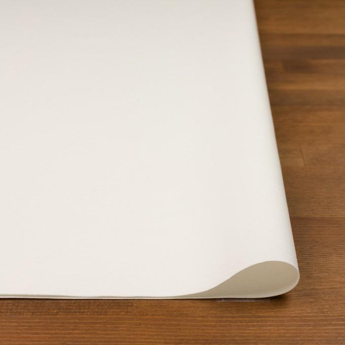 コットン×無地(ミルキーホワイト)×かわり織_イタリア製 イメージ3