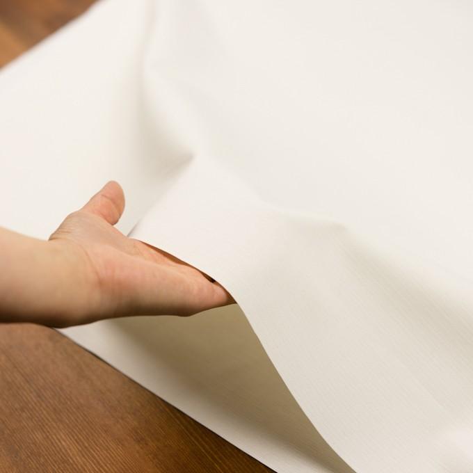 コットン×無地(ミルキーホワイト)×かわり織_イタリア製 イメージ5