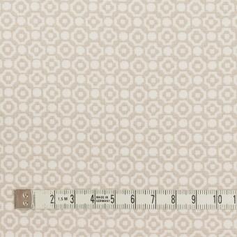コットン&レーヨン×幾何学模様(グレイッシュベージュ)×グログラン サムネイル4