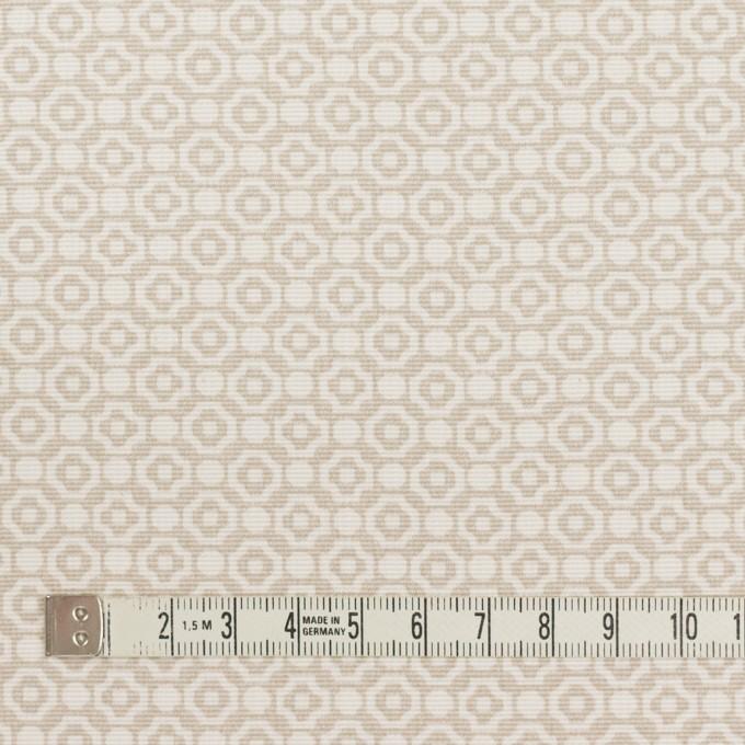 コットン&レーヨン×幾何学模様(グレイッシュベージュ)×グログラン イメージ4