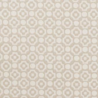 コットン&レーヨン×幾何学模様(グレイッシュベージュ)×グログラン サムネイル1