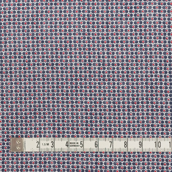 リネン×幾何学模様(トリコロール)×薄キャンバス_イタリア製 イメージ4
