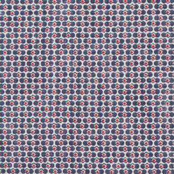 リネン×幾何学模様(トリコロール)×薄キャンバス_イタリア製 サムネイル1