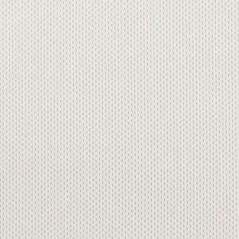 コットン&ポリエステル混×ストライプ(オフホワイト)×ブロードストレッチ刺し子_イタリア製