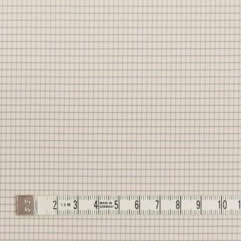 コットン&ナイロン×チェック(バニラ)×ブロード_イタリア製 サムネイル4