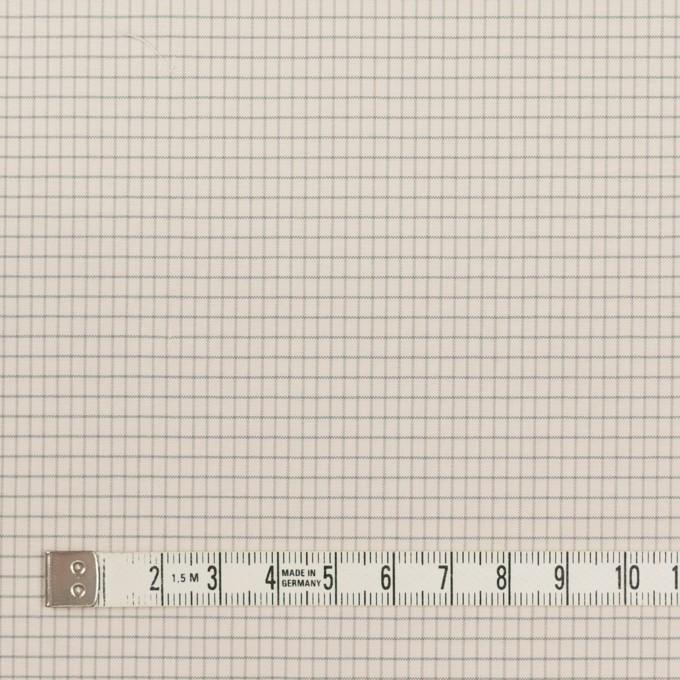 コットン&ナイロン×チェック(バニラ)×ブロード_イタリア製 イメージ4