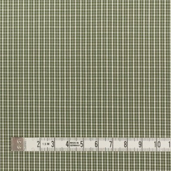 コットン×チェック(アイビーグリーン)×ブロード_イタリア製 サムネイル4