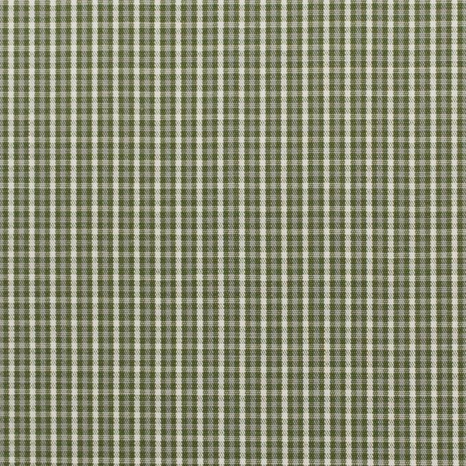 コットン×チェック(アイビーグリーン)×ブロード_イタリア製 イメージ1