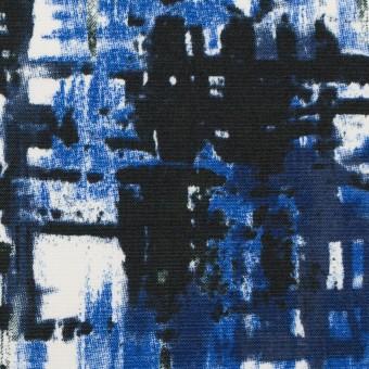 コットン&ポリウレタン×ペイント(マリンブルー)×ポプリンストレッチ_全2色 サムネイル1