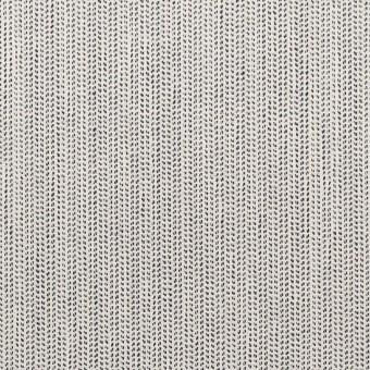 【110cmカット】ウール&ポリウレタン×ミックス(アイボリー&ブラック)×かわり織ストレッチ