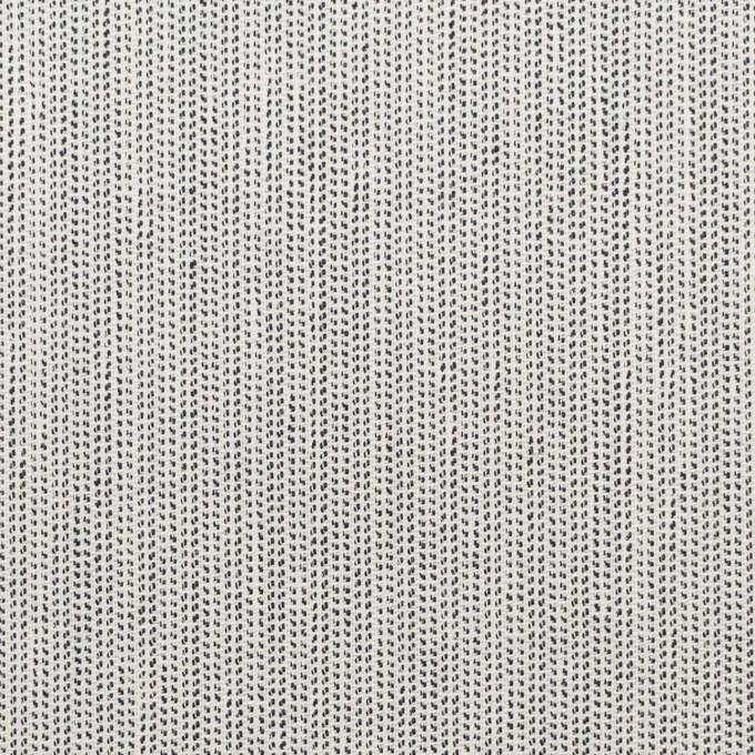 ウール&ポリウレタン×ミックス(アイボリー&ブラック)×かわり織ストレッチ イメージ1