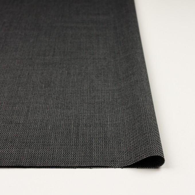 ウール&レーヨン×ミックス(ブラック)×かわり織 イメージ3