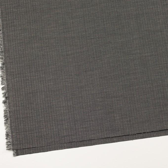 ウール&レーヨン混×無地(チャコール)×ポプリンストレッチ イメージ2