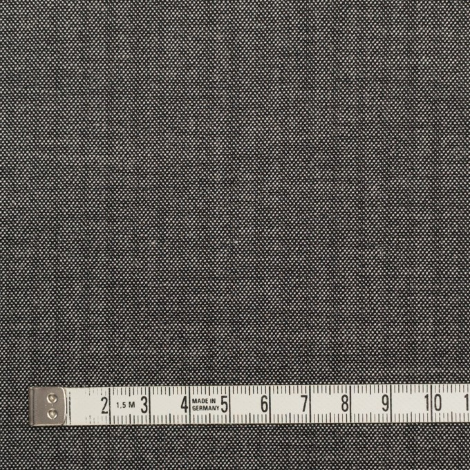 ウール&レーヨン混×無地(チャコール)×ポプリンストレッチ イメージ4
