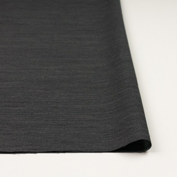 ウール&キュプラ×無地(チャコール)×薄サージ イメージ3