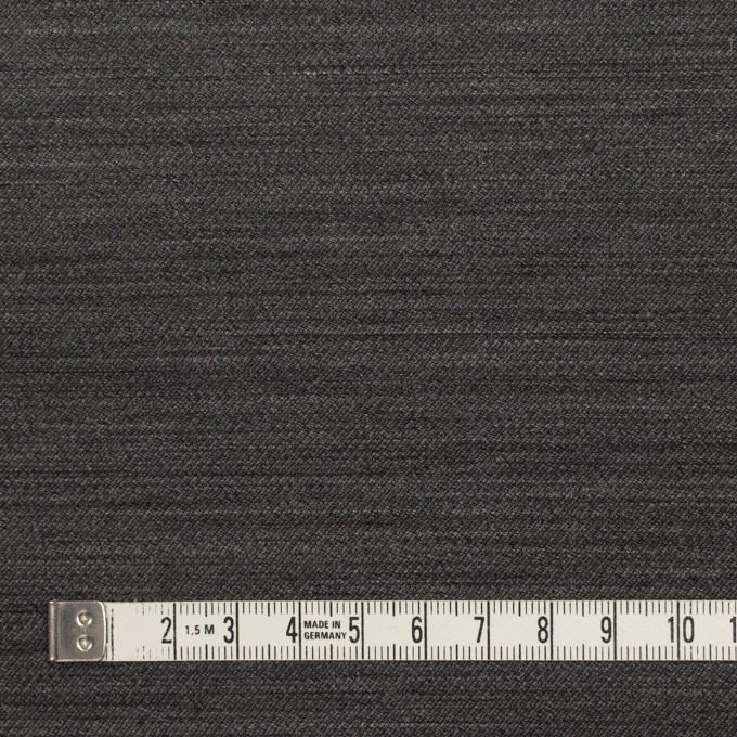 ウール&キュプラ×無地(チャコール)×薄サージ イメージ4