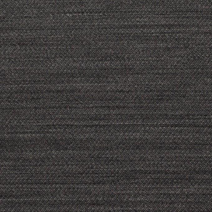 ウール&キュプラ×無地(チャコール)×薄サージ イメージ1