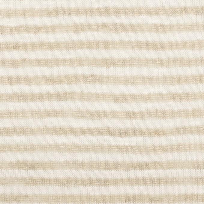 リネン×ボーダー(ミルク&ベージュ)×天竺ニット_全2色 イメージ1