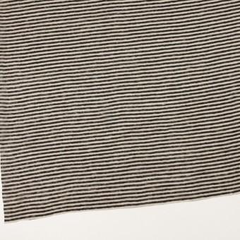 リネン×ボーダー(グレイッシュベージュ&ブラック)×天竺ニット_全2色 サムネイル2