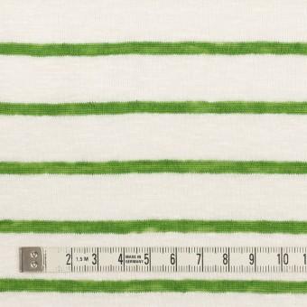 リネン×ボーダー(グリーン)×天竺ニット_全2色 サムネイル4