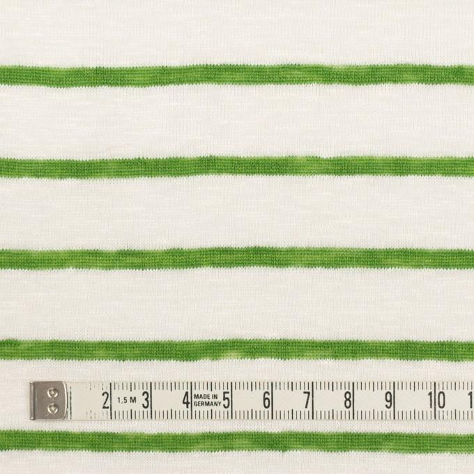 リネン×ボーダー(グリーン)×天竺ニット_全2色 イメージ4
