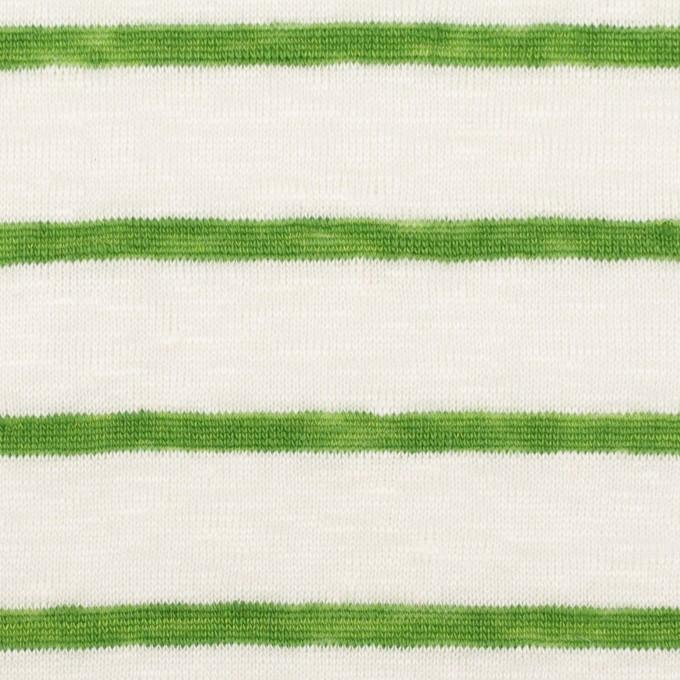 リネン×ボーダー(グリーン)×天竺ニット_全2色 イメージ1