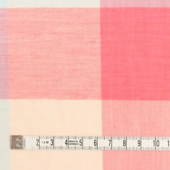 コットン&リネン混×チェック(サーモンピンク&シトロン)×ボイル_全2色 サムネイル4