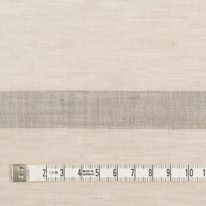 コットン&リネン×ボーダー(グレイッシュベージュ)×ボイルジャガード イメージ4