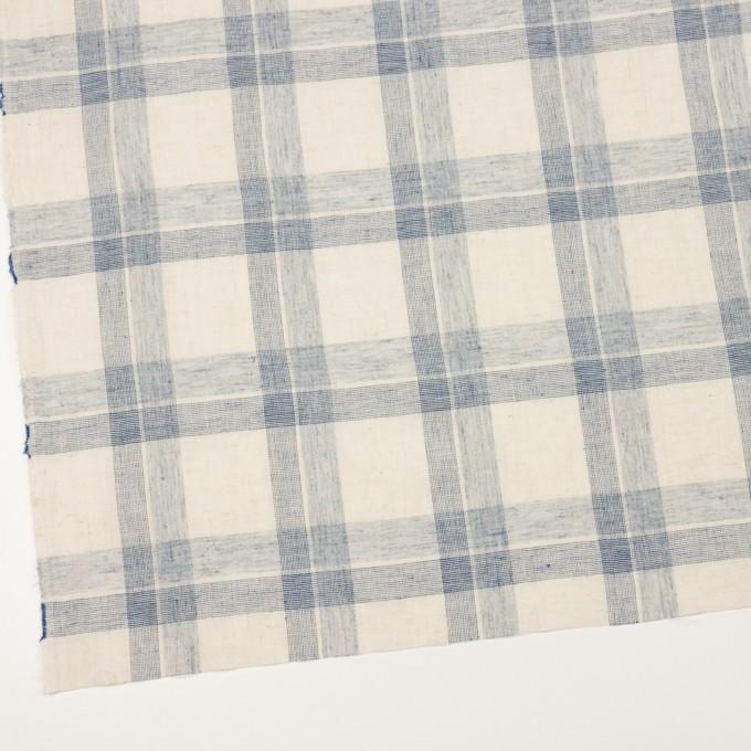 コットン&リネン混×チェック(キナリ&ブルーグレー)×シーチング イメージ2